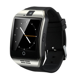 smart watch grey phone Coupons - Q18 smart watches for android phones Bluetooth Smartwatch with Camera Support Health Smart watches Tf sim Card Slot Bluetooth with package