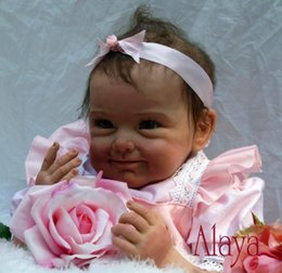 Wholesale Gifts Christmas Presents - Nicery 22inch 55cm Magnetic Mouth Reborn Baby Doll Soft Silicone Lifelike Toy Gift for Children Christmas Present Pink Flower