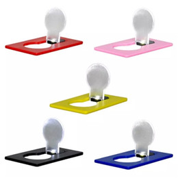 Canada Lampe de poche à DEL pour carte de poche Lampe à poche à LED Briquets Mini-lumière portative dans le sac à main Porte-monnaie d'urgence Outil de plein air portable aa72-78 20180107 cheap lighters flashlight Offre