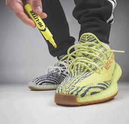 Wholesale cotton mix - 2018 Beluga 2.0 Kanye west 350 v2 Shoes Mix Grey Bold Yellow Semi Frozen Blue Tint Men designer shoes Women Running Shoes