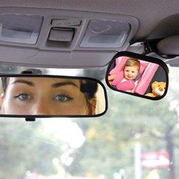 audi a6 lcd Rabatt 2 in 1 Mini Sicherheit Auto Rücksitz Baby View Spiegel Einstellbare Baby Hinten Konvexen Spiegel Auto Baby Kinder Monitor