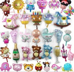 Wholesale Baby Shower Girl Balloons - New Arrival Champagne cup beer Bottle balloons Boy Girl Baby Shower Foil helium Balloons Party Decoration Kids birthday wedding
