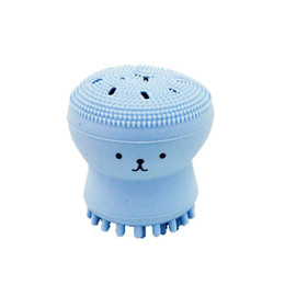 Wholesale face wash blackheads - Popular item Wash Brushes Super Little Cute Octopus Face Cleaner Massage Soft Silicone Facial Brush Face Cleansers Blackhead