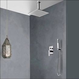 Wholesale Bath Taps Wall Mounted - Wholesale-BECOLA Free Shipping Concealed Shower Set. Concealed Shower Faucets. 10 inch rainfall square shower head,Bath tap mixer