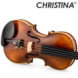 Instruments de musique de violon en Ligne-Violon maître violon Christina V07B professionnel Italie violon érable de haute qualité 3 / 4,4 / 4 instruments de musique, étui, archet