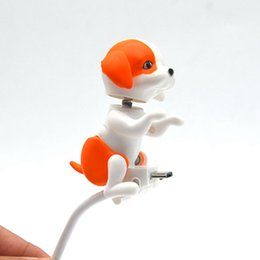Wholesale charger toy - Newest Top sale Mini Humping Cute Spot Dog Toy Smartphone Cable Charger Data 1M Charging Line For Samsung Portable