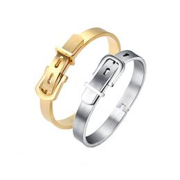 Wholesale Channel Belts - whole saleCarter Belt Buckle Design Love Bracelet Femme 4 Colors Stainless Steel Punk Adjustable Cuff Bracelets Bangles Lady Jewelry