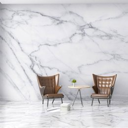 Wholesale Black White Modern Wallpaper - 8D Grey Texture White Marble 3d Stone Wallpaper Papel Mural for Bedroom Background 3d Wall Photo Murals Wall paper Sticker