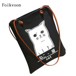 a7222b3a1d12 Foikvoon Woman Canvas Bags Cartoon Cute Women Handbags Bags Simple Printing  Girls Crossbody Bag