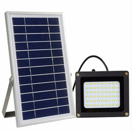 Wholesale Adjustable Wall Brackets - Wholesale-54 LED Outdoor Solar Floodlight Working from Dusk to Dawn at Good Sunshine with Wall Mounted Brackets Adjustable Light Fixture