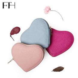 Wholesale cartoon sexy case - heart-shaped women's sweet Genuine Leather zipper Keys purse coin purses lady mini sexy Key bag housekeeper lovely Key Case