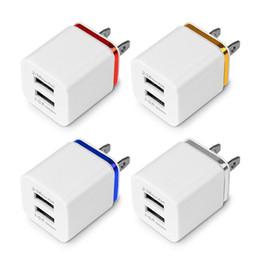 сотовый телефон для apple Скидка Металлический двойной USB зарядное устройство США ЕС штекер 5v2.Переходника силы стены штепсельной вилки 1A/1A для верхней части сотовых телефонов iPhone Samsung ipad