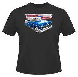 Chevrolet geschenke online-Männer T-Shirt, Chevrolet Bel Air Blau, Ideal Geburtstagsgeschenk oder Geschenk