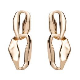 Wholesale silver big round earrings - silver round drop Earrings for women 2018 Luxury boho personality big Multilayer Hollow Dangle earrings Vintage geometric Jewelry wholesale