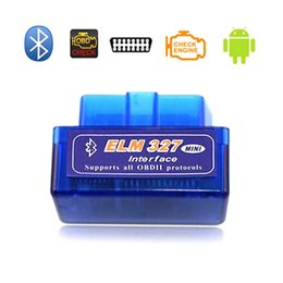 Wholesale Obd2 Mileage Correction Software - Diagnostic scanner for car automotivo escaner automotriz Mini V2.1 ELM327 OBD2 Bluetooth Interface Auto Car Scanner DHL Free Shipping
