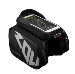 teléfonos celulares de pantalla grande Rebajas Nuevo impermeable bolsa de bicicleta de pantalla táctil marco delantero superior bolso de la bici bolsa doble ciclismo grande en accesorios del teléfono celular