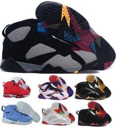 Wholesale Best Cigars - Best Air 7 Basketball Shoes Men Women Black Olympic Tinker Alternate Reloj 7s VII UNC Hares Bordeaux Cigar Cardinal Replicas Sport Sneakers