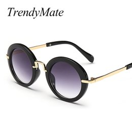 78f0a21b88 cute girl eyeglasses Canada - Fashion Round Kids Sunglasses Children Sun Glasses  Anti-uv Baby