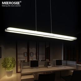 Luces de montaje empotrado led online-Moderna lámpara de araña LED Fitting Rectángulo acrílico LED Lampustres para cenar restaurante lamparas decoración del hogar iluminación