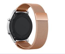 magnetische sportarmbänder Rabatt 18MM 20MM 22MM magnetischer Armband-Bügel für Samsung-Gang-Sport S3 S2 klassische huami am amurfite bip Milanese Schleife für huawei Uhr 1