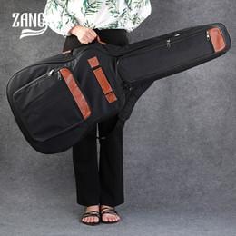 2019 guitarras acústicas de nylon Zang lee 41 polegadas saco de guitarra com dois alça de ombro material de nylon à prova d 'água guitarra acústica case fit 38 39 40 41 desconto guitarras acústicas de nylon