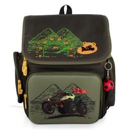 Wholesale Car Backpacks - DELUNE Russia Style Waterproof Orthopedic Backpack School Bags for Boys Cartoon Cars Schoolbag Ultralight Kids Satchel Grade 1-6
