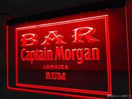 Wholesale Neon Bar Lights Captain - LA490r- BAR Captain Morgan Rum LED Neon Light Sign