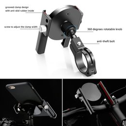 Wholesale Mobile Phone Motorcycle Stand Holder - Accessories Parts Mobile Holders Stands Bike Bicycle Metal Holder for Mobile Phone Holder Adjustable Motorcycle Handle Phone Mount for