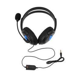 Wholesale Gaming Headphones Microphone - Black 1 pcs sale Wired Gaming Headset Headphones with Microphone for Sony PS4 PlayStation 4 Free shipping