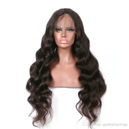 Wholesale glueless full lace wigs dhl - DHL Shipping 150% Density Natural Color Body Wave Peruvian Remy Hair Wigs Glueless Lace Front Human Hair Lace Wigs Pre Plucked Baby Hair