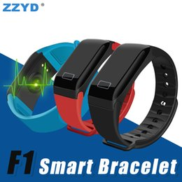 Wholesale Camera For F1 - ZZYD F1 Smart Bracelet Waterproof Smart Watch Wireless Fitness Tracker Wristband Heart Rate Sleep Monitor for Samsung S8 Smart Phone