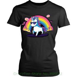 einhornt-stück Rabatt Women's Tee Einhorn Donuts Women Shirt Lustige Einhorn T-shirt Geschenkidee Rainbow Unicorn Shirt Baumwolle Casual T-Shirt