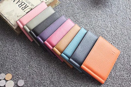 Wholesale pink money clips - Men's Leather Genuine wallet luxury design Thin Card Case Simple Card Holder Purse Slim Wallet Money Clip 2018