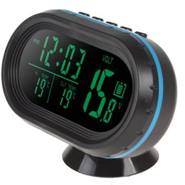 Wholesale Voltmeter Auto - ools, Maintenance Care Diagnostic Tools 12V   24V Digital Auto Car Thermometer + Car Battery Voltmeter Voltage Meter Tester Monitor + Noc...