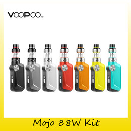 Kartenchips online-Authentische Voopoo Mojo 88 Watt Starter Kit 2600 mAh Batterie GENE Chipkarte TC VW Box Mod Für Original UFORCE Tank U2 Spule 100% Echt