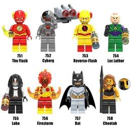 Wholesale Reverse Flash - Avengers Super Heroes Minifig Mix Lot Cybory Flash Bat Reverse Flash Lex Luthor Lobo Firestorm Figure X0178 Mini Building Blocks Figures