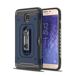heavy duty mobile NZ - For Samsung Galaxy J7 2018 J3 2018 Note 9 case card holder with kickstand active mobile cell phone heavy duty protective shockproof cover