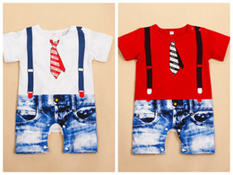 Wholesale Kids Overalls Pants - Newborn baby boy outfits 3-24M baby boys kids overalls costume suit grow outfit romper pants clothes 11 styles