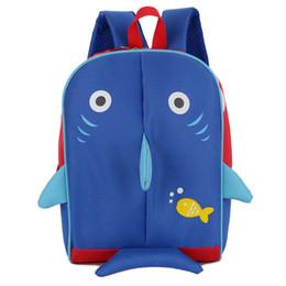 Sac à dos animal 3d enfants en Ligne-Fashional cartoon Animal 3D imprimé Shark School Bag enfants rose Sac à dos de lapin enfants Enfants charmant chiot toile Épaules sac 20pcs