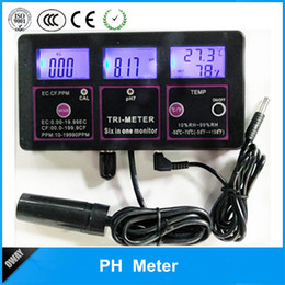 Wholesale Multi Tester Digital - Freeshipping 6 in 1 Multi-parameter Water Testing Meter Digital LCD Multi-function Monitor pH   RH   EC(TDS)   TEMP Water Quality Tester