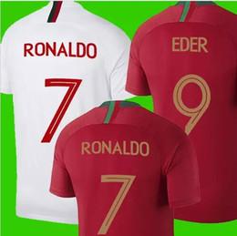 Wholesale Mario Football - 2018 portugal shrit RONALDO short de football J MARIO QUARESMA 18 19 maillot de football coupe du monde J MOUTINHO maillot de bain blanc