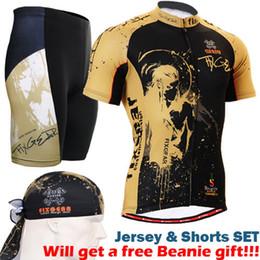 Wholesale Army Bike Jersey - 2017 men cycling set mens cycling clothes sets short sleeve zipper up jerseys shirts and padded bike shorts