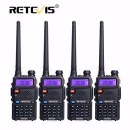 Wholesale Hf Portable Transceiver - 4pcs Portable Radio Walkie Talkie Retevis 5W RT5R 128CH VHF UHF Dual Band Amateur Radio Hf Transceiver 2 Way Station RT-5R