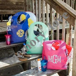 3colors Jute Beach tote Large Women big size shopping Bag Casual Beach  storage Luggage Bags Open pocket Custom alphabet 32b351e18a3f0