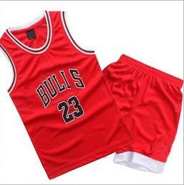 Wholesale sport jerseys wholesale - Childrens Sport Clothing Set Sleeveless Boys Basketball Jersey Printed 2pcs Training Suits YL67