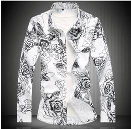 Canada Nouveau Automne Homme Chemise Motif À Manches Longues Fleurs Florales Imprimer Slim Fit Hommes Chemise Casual De Mode Hommes Robe Chemises supplier autumn dress patterns Offre