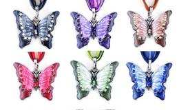 Collana pendente farfalla farfalla in lega colorata è appositamente progettato per le donne ciondolo pendente maglione ciondolo pendente animali da