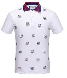 50bc1742de camisas polo poliéster para homens Desconto 2019 novo verão gc mens  poliéster tigre impresso camisa polo