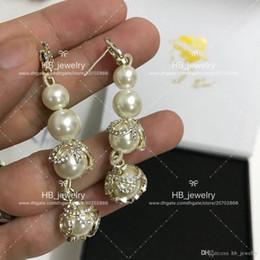 Canada Mode populaire fleur perle longues boucles d'oreilles pour dame conception femmes parti mariage luxe bijoux avec pour la mariée boîte. cheap popular earring designs Offre
