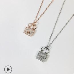 profumi dell'automobile all'ingrosso Sconti gioielli di lusso S925 collana in argento sterling borse con collana pendente H oro colore moda calda senza spese di spedizione